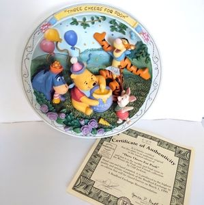 Pooh & Friends three cheers for pooh plate